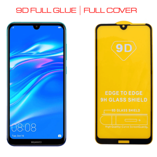 9D Full Glue Full Face Tempered Glass Black (Huawei Y7 2019/Huawei Y7 Pro 2019)