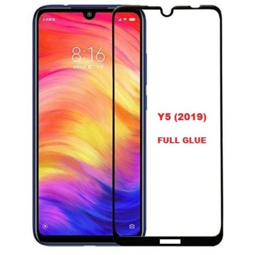 Full Glue Full Face Tempered Glass Black (Huawei Y5 2019)