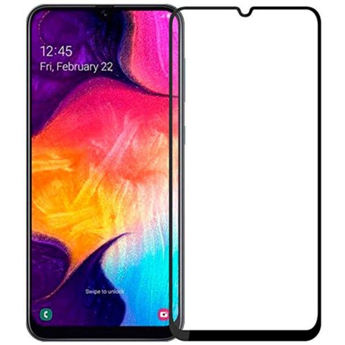 Full Glue Full Face Tempered Glass Black (Galaxy A20e)