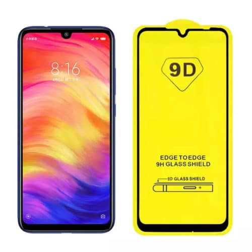 9D Full Face Tempered Glass Black (Redmi Note 8T)