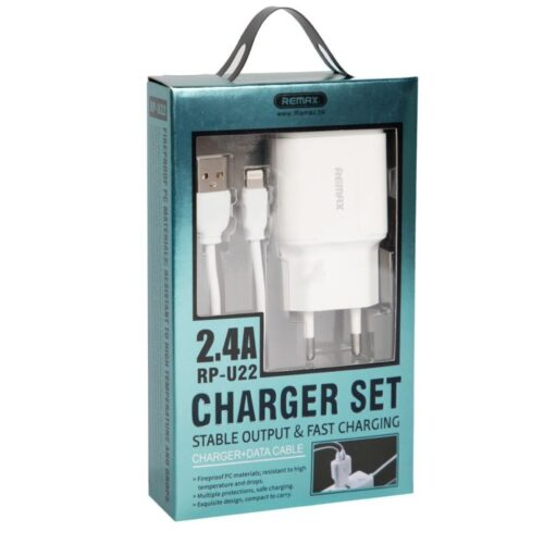 Remax Lightning Cable & 2x USB Wall Adapter Λευκό (RP-U22) Remax Lightning Cable & 2x USB Wall Adapter Λευκό (RP-U22)