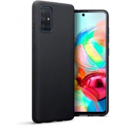 Back Cover Σιλικόνης Matt Μαύρο (Galaxy A51)