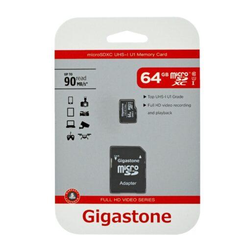 Gigastone MicroSDXC UHS-1 64GB C10 90 MBs