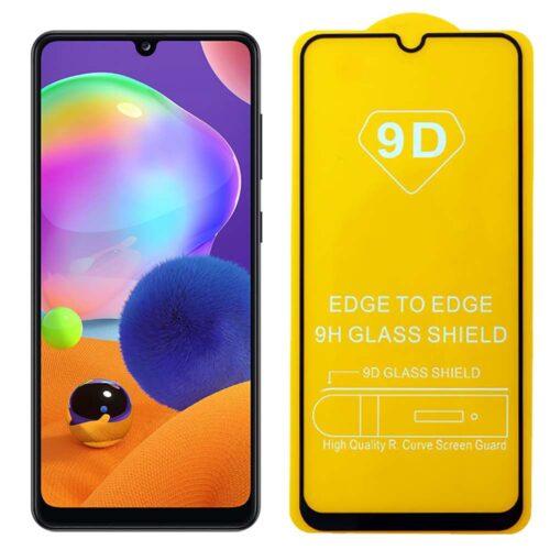9D Full Glue Tempered Glass Black (Galaxy A31)