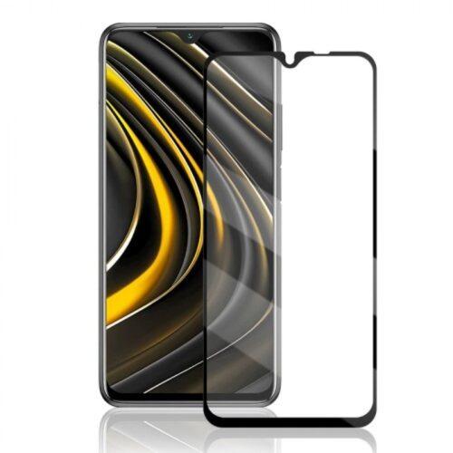 Προστατευτικό τζάμι 9D Full Glue Full Face Tempered Glass 9H Xiaomi POCO M3_Redmi 9T μαύρο