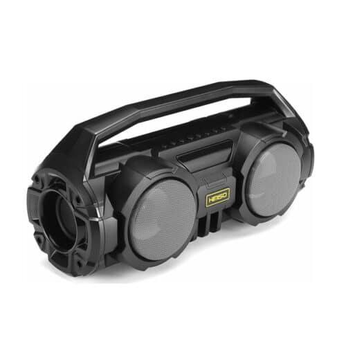 km -s1 Ασύρματο Ηχείο - Ηχοσύστημα Καραόκε με Μικρόφωνο - Portable Bluetooth 5.0 Speaker Stereo Bass Soundbox RGB LED