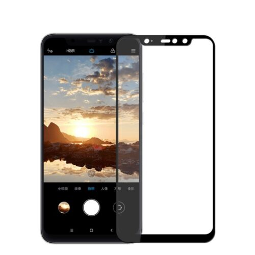 5D Full Face Tempered Glass Black (Redmi Note 6 Pro)