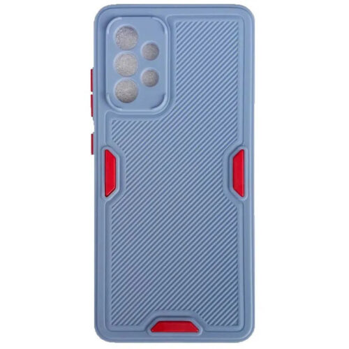 SAMSUNG GALAXY A52 TPU SOFT SILICONE BACK COVER CASE WITH LINES COLOR BLUE (OEM)