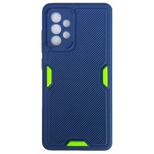 SAMSUNG GALAXY A52 TPU SOFT SILICONE BACK COVER CASE WITH LINES COLOR DARK BLUE (OEM)