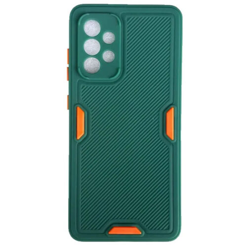 SAMSUNG GALAXY A52 TPU SOFT SILICONE BACK COVER CASE WITH LINES COLOR DARK GREEN (OEM) (1)