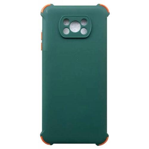 XIAOMI POCO X3 PRO / POCO X3 NFC TPU SILICONE BACK COVER CASE SHOCKPROOF ANTI SHOCK DARK GREEN (OEM)