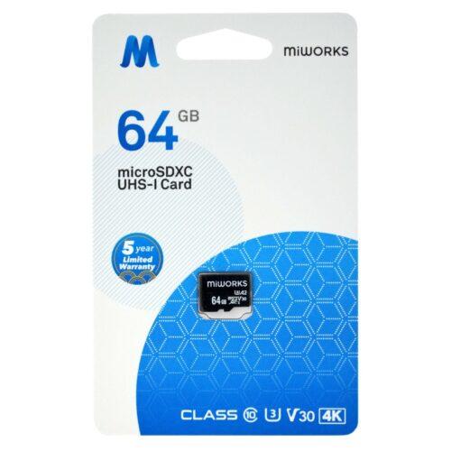 Κάρτα Μνήμης MiWorks MicroSDXC 64GB Class 10 UHS-I U3