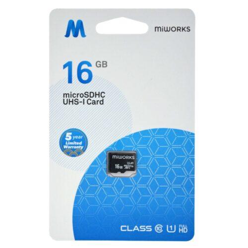 MiWorks Κάρτα Μνήμης MiWorks MicroSDHC 16GB Class 10 UHS-I U164GB Class 10 U3