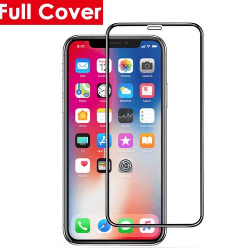 5D Full Glue Full Face Tempered Glass Black (iPhone XR