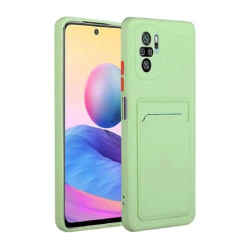 Θήκη για Xiaomi Poco X3 NFC Back Cover με Υποδοχή Κάρτας (light πράσινο)