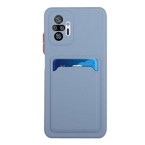 Θήκη για Xiaomi Redmi Note 10 Pro Note 10 Pro Max Back Cover με Υποδοχή Κάρτας μπλε