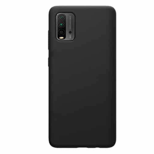 SILKY AND SOFT TOUCH SILICONE COVER FOR XIAOMI REDMI 9T - BLACK